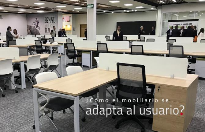 ¿Cómo el mobiliario se adapta al usuario?